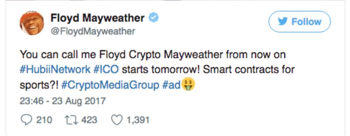 Флойд Мейвезер анонсирует свое ICO в спорте