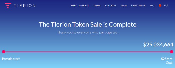 Tierion успешно собрал $25 млн