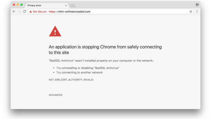Google Chrome будет предупреждать пользователей о попытках MitM-атак