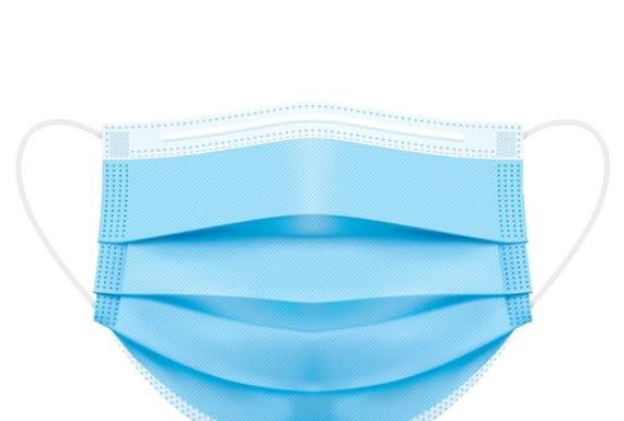 P029 Medizinische Maske Typ IIR Spenderbox Blau