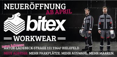 Bitex Workwear Neueröffnung ab April!