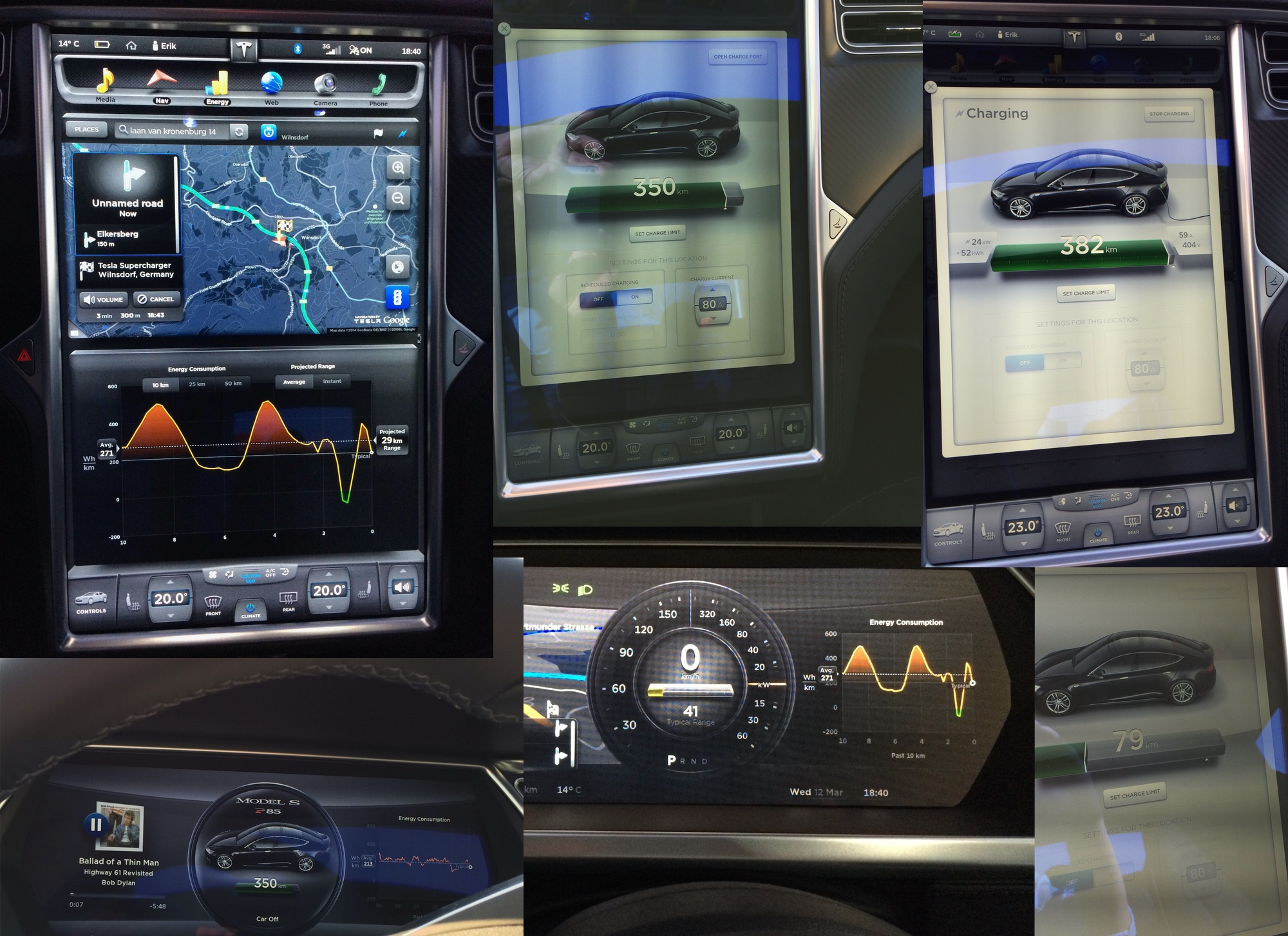 Tesla user interface 2014