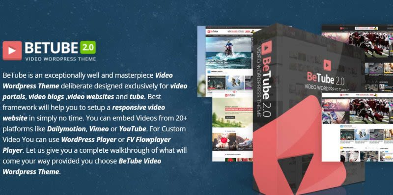 معرفی قالب BeTube - افزونه گالری ویدیو در وردپرس