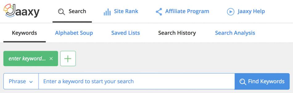 ابزار جستجوی حرفه ای jaaxy