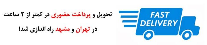 تحویل و پرداخت حضوری در تهران و مشهد راه اندازی شد
