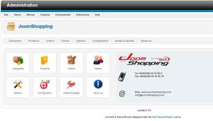 نمایی از بخش مدیریت فروشگاه اینترنتی