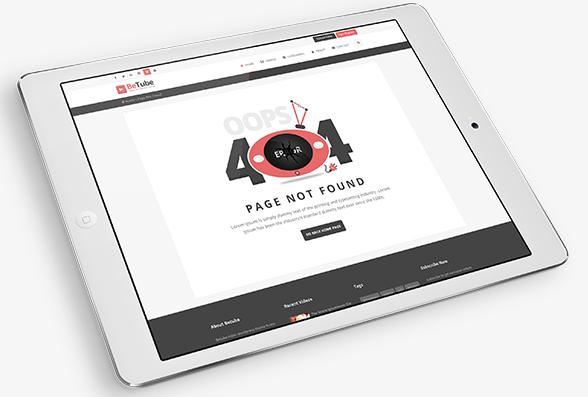 طراحی اختصاص صفحه 404