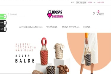 E-commerce de Bolsas, com Fornecedores