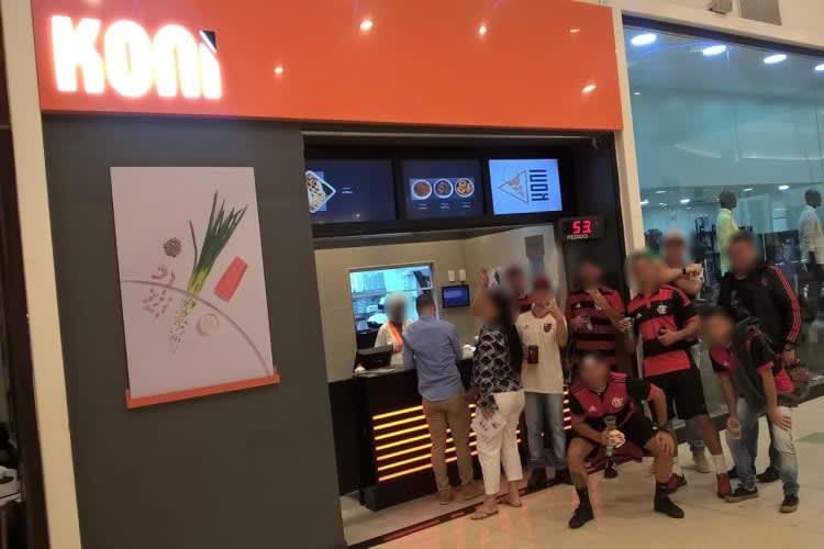 Empresa à venda em São João de Meriti/RJ   Restaurante Franquia KONI Shopping Grande Rio-RJ   Foto 1