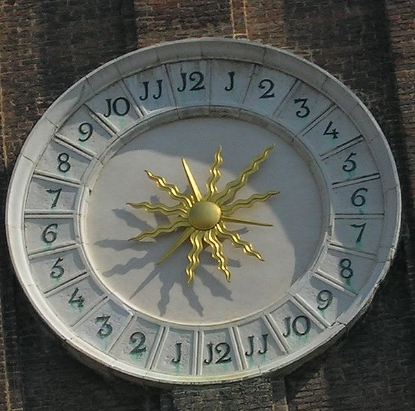 The 24 hour tower clock in Venice uses also the Barcelona time format