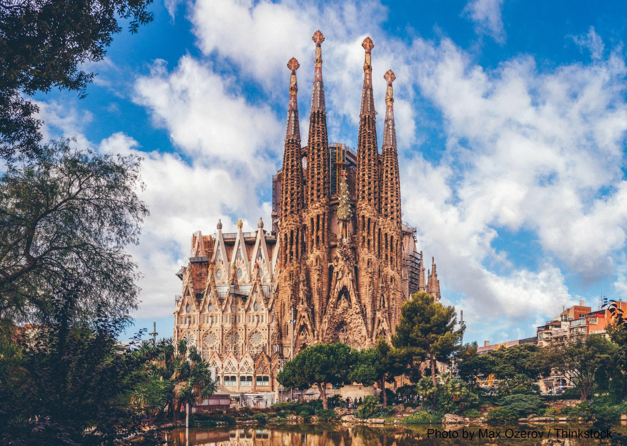Visit the Sagrada de Familia, a popular Barcelona attraction