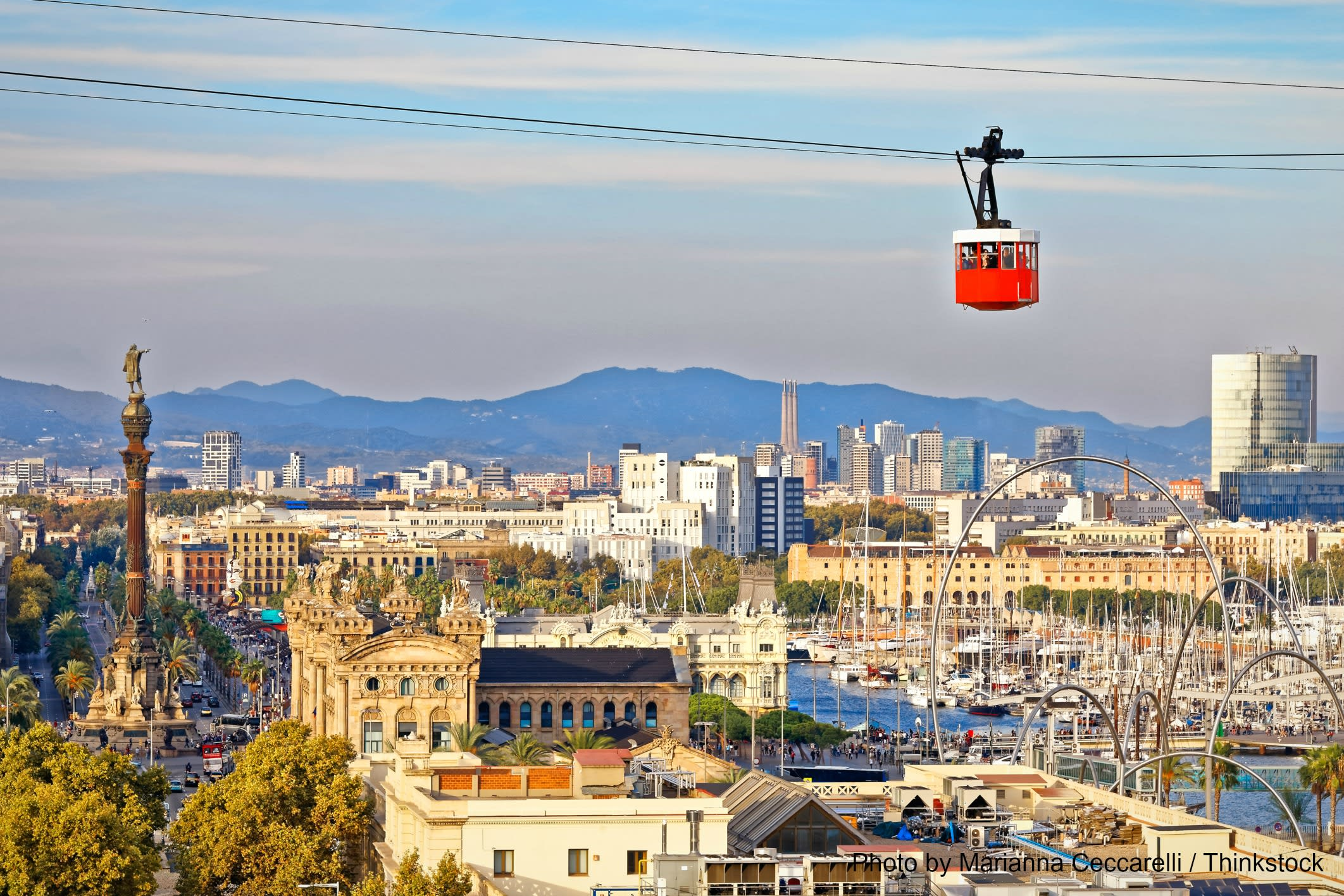 See the best views in the Montjuic Cable Car
