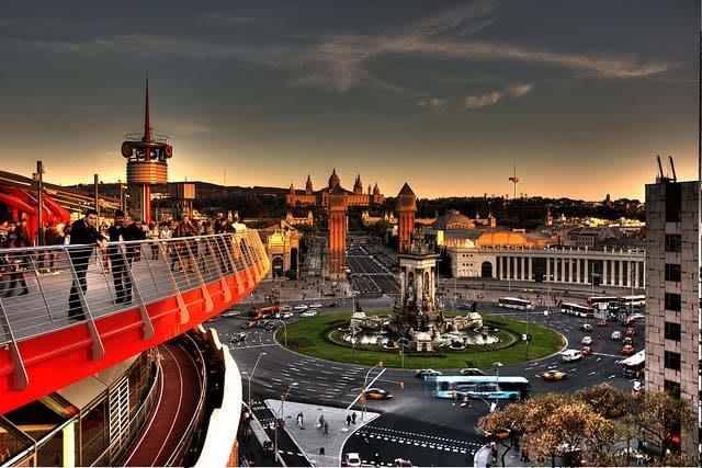 best viewpoints in barcelona - Mirador las arenas