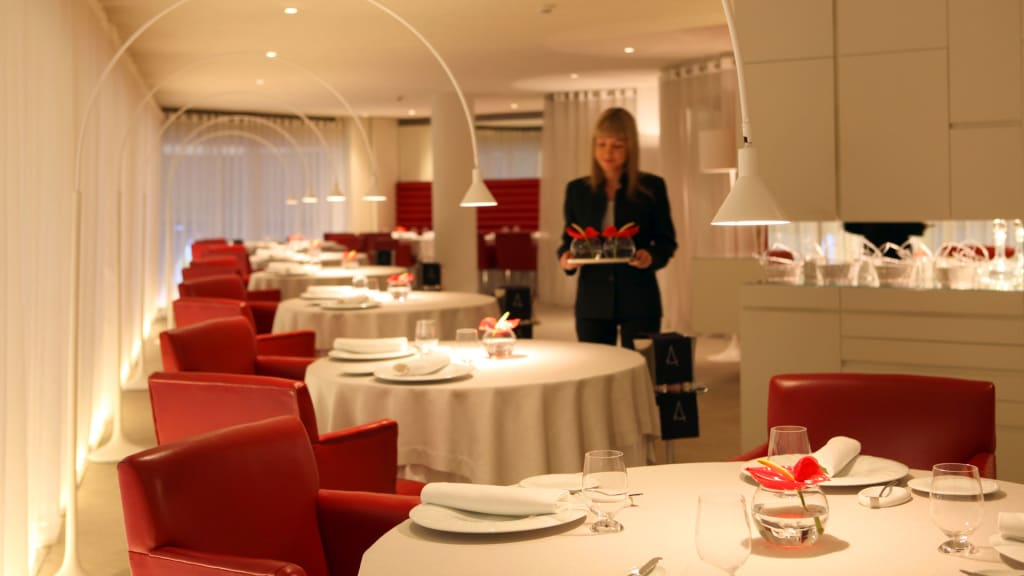 Angle restaurant with one micheling star barcelona