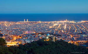 See views of Barcelona from the turó de la rovira