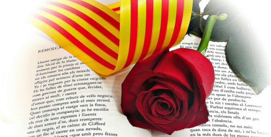 sant jordi libros rosas barcelona
