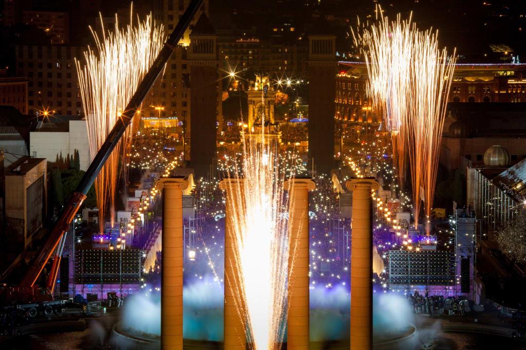 New year's Eve in Barcelona - Plaça Espanya