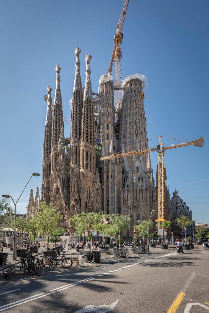 Sagrada Família - Current state of the construction progress of sagrada familia