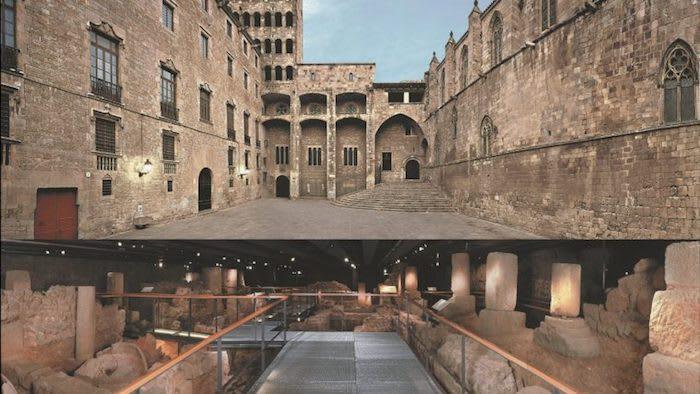 Roman ruins in barcelona - plaça del rei