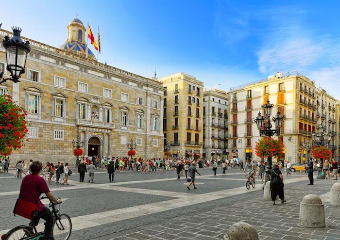 Plaça sant Jaume - Roman Ruins in Barcelona