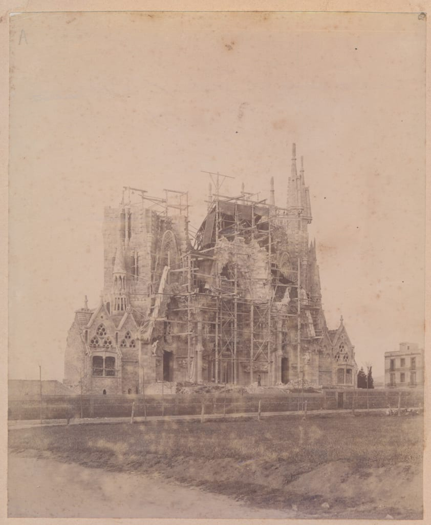 Sagrada Família - Nativity façade in 1899