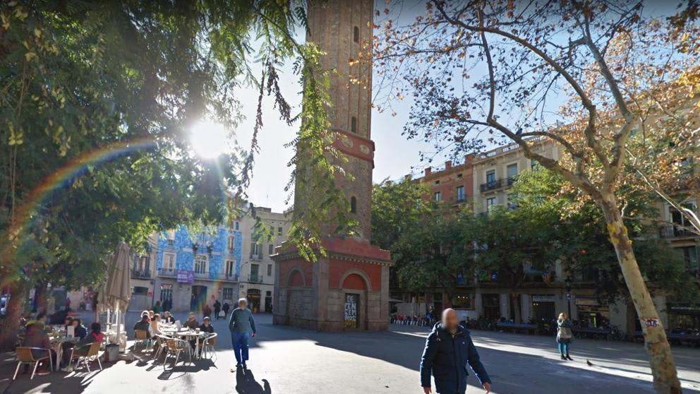 A plaza in the Barcelona neighbourhood of Gràcia