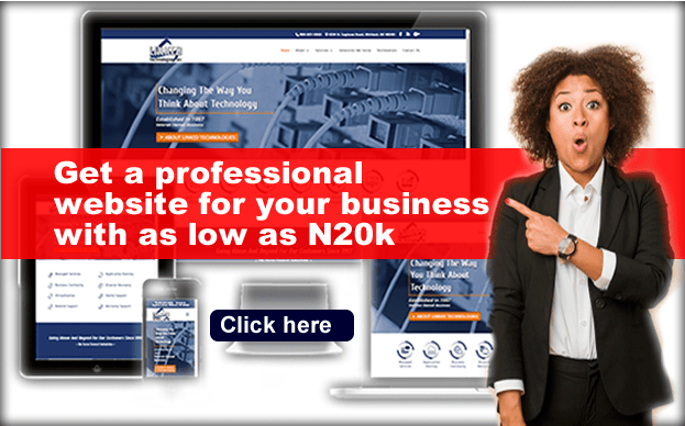 free website design for small businesses in Nigeria