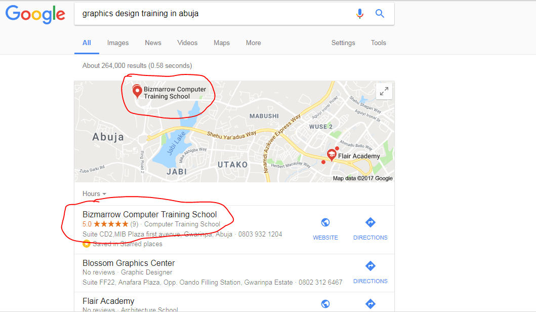 Google my business-Digital marketing Training in Abuja