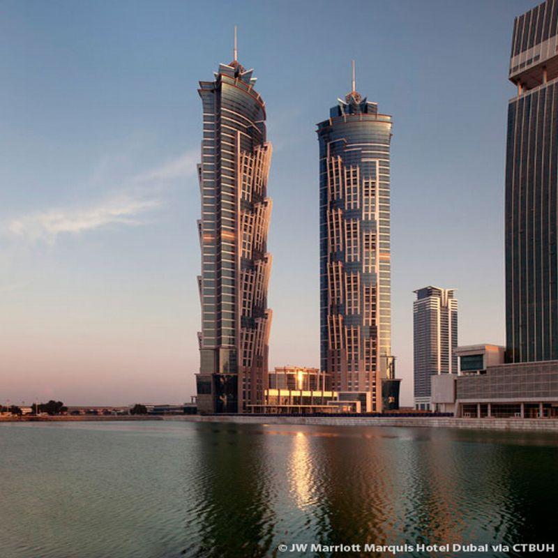 המלון הגבוה בעולם; קרדיט: JW Marriott Marquis Hotel Dubai/ CTBUH
