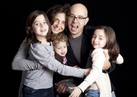 אסי יריב עם המשפחה