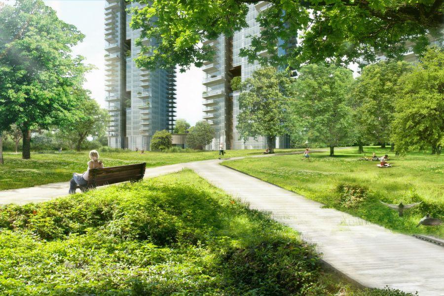"""הדמיית הפארק; קרדיט: יח""""צ"""
