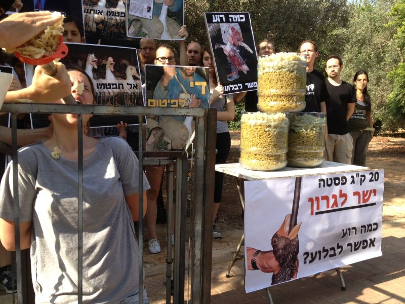 ההפגנה מול ביתו של שמיר. קרדיט: איתי אקנין