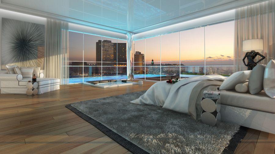 """הדמיית חדר השינה; קרדיט: יח""""צ"""