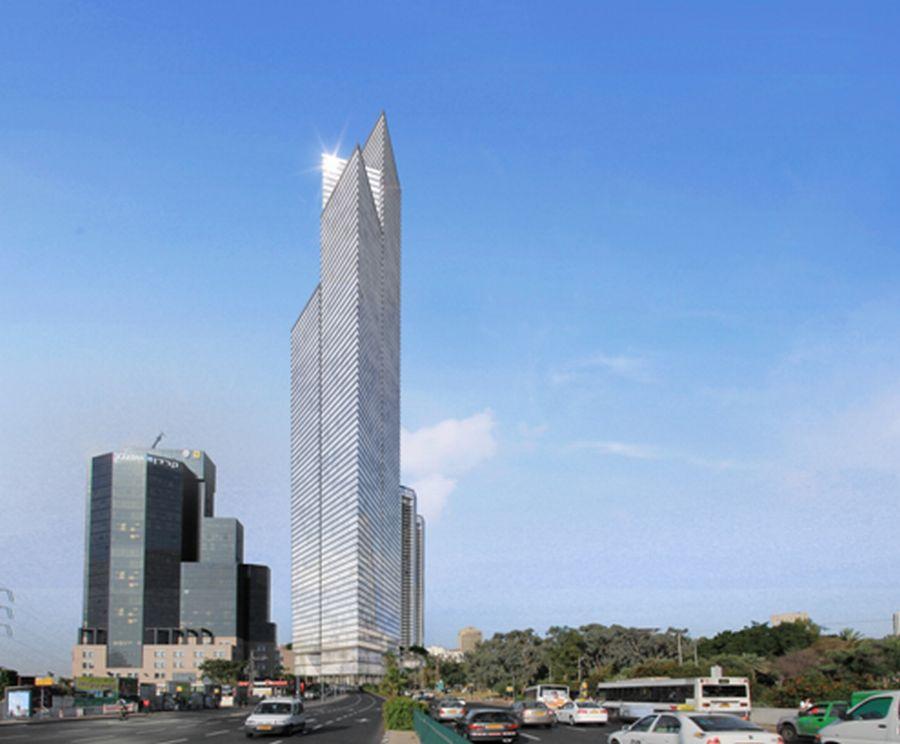 הדמיית המגדל בן ה-80 קומות ; קרדיט: ויו פוינט