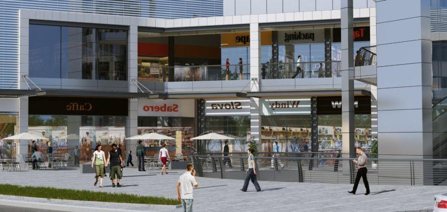 הדמיית המרכז המסחרי; קרדיט: ברעלי לויצקי כסיף אדריכלים