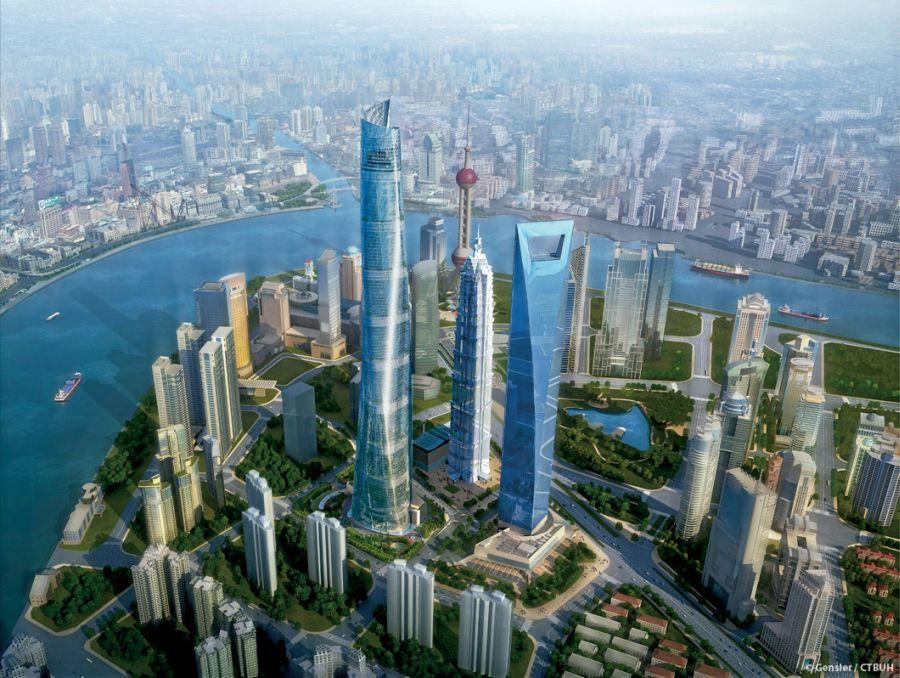 מגדל שנחאי; קרדיט: Gensler / CTBUH