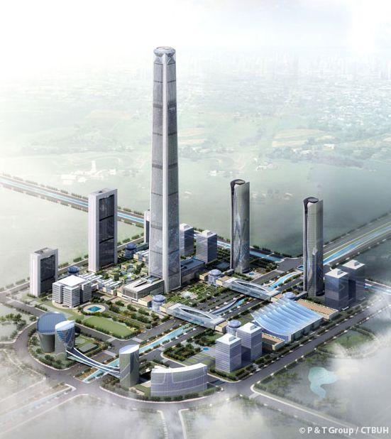 מגדל גולדין, טיאנג'ין; קרדיט: P&T Group/ CTBUH