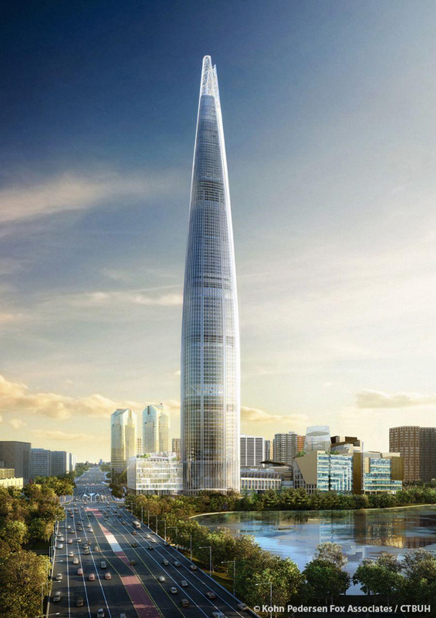 מגדל לוטה, סיאול; קרדיט:  Kohn Pedersen Fox Associates / CTBUH