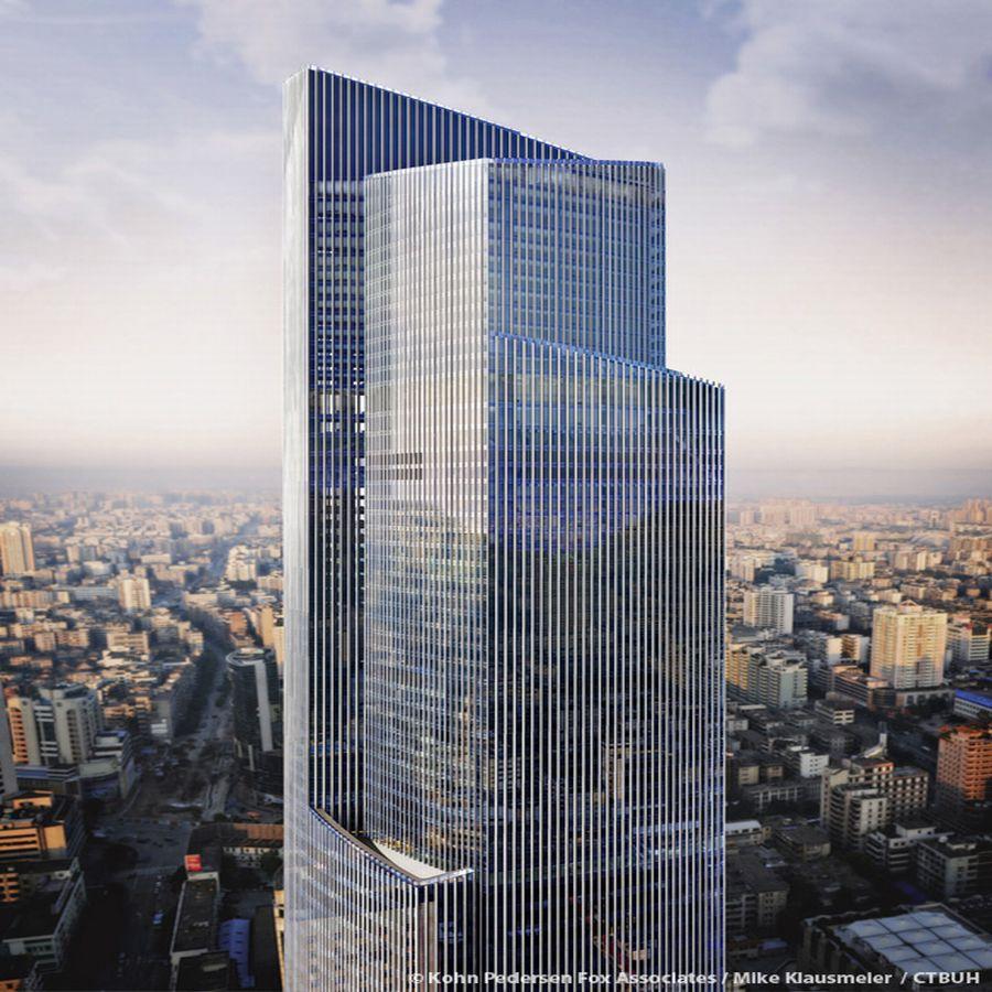 מגדל CTF גואנגזו; קרדיט: Kohn Pedersen Fox Associates / Mike Klausmeier / CTBUH
