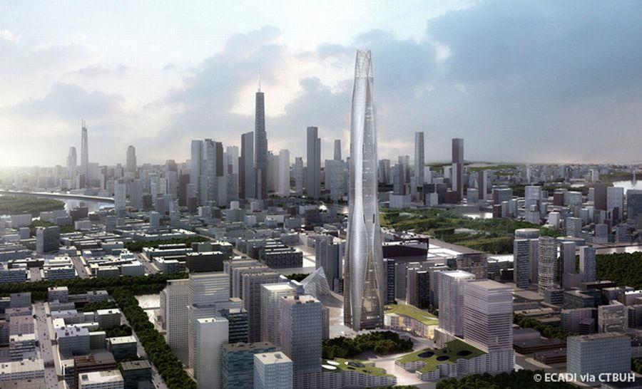 מגדל טיאנג'ין צ'ואו טאי; קרדיט: ECADI via CTBUH