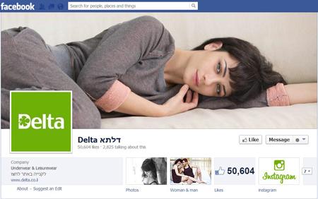 דף הפייסבוק של דלתא