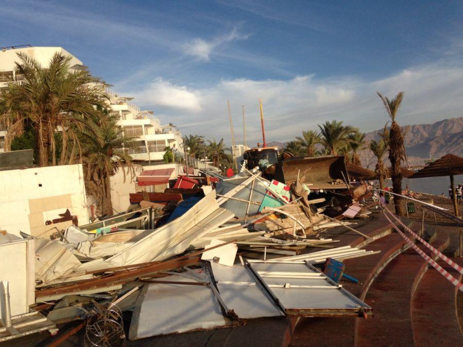 אחרי ההריסה; מקור: רשות מקרקעי ישראל