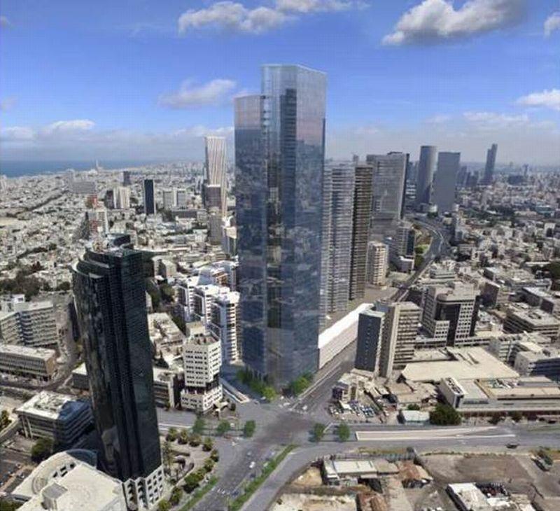 הדמיית המגדל; קרדיט: משה צור אדריכלים