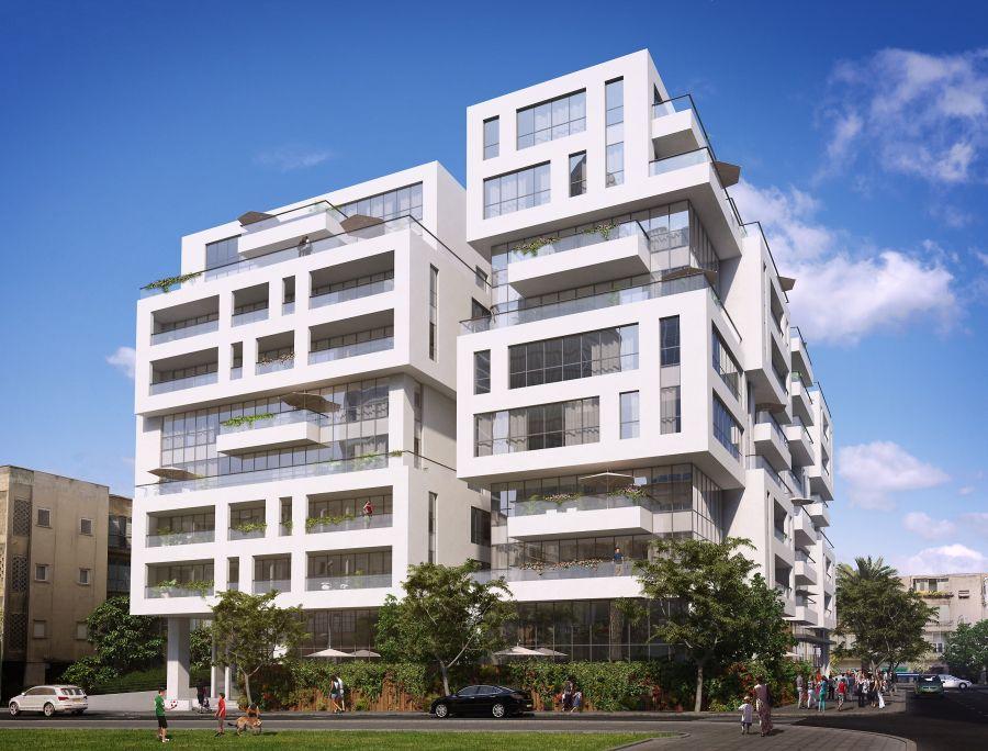 """הדמיית הבניין מרחוב שטרוק; קרדיט: יח""""צ"""