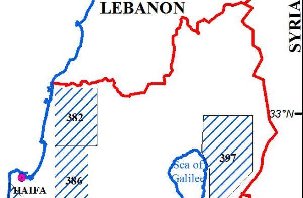 מפת זכויות נפט בצפון - מתוך אתר משרד האנרגיה והמים