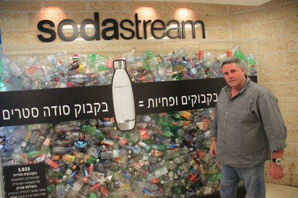 צריכת הבקבוקים והפחיות הממוצעת של משפחה ישראלית בשלוש שנים בתוך מיכל