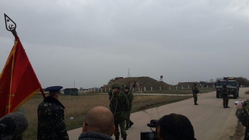 המפגש בין הקצינים האוקראינים לחיילים הרוסים