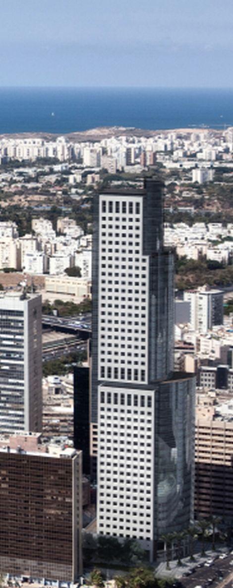 """מגדל הראל עם תוספת הקומות; קרדיט: יח""""צ"""