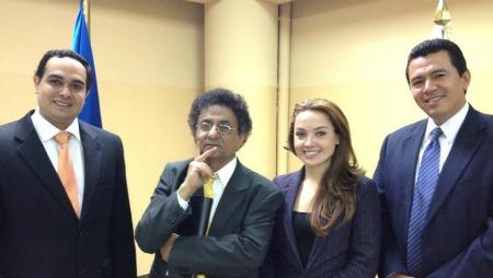 """בן-דרור ימיני במהלך שליחותו בארה""""ב (צילום: מהפייסבוק)"""