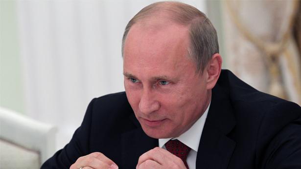 ולדימיר פוטין. הבטיח שיכיר במנצח בבחירות